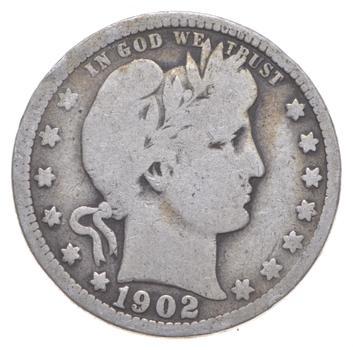 Better 1902 - US Barber 90% Silver Quarter Coin Collection Set Break