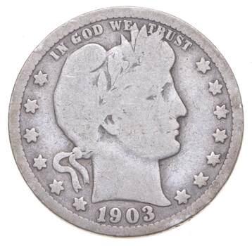 Better 1903-O - US Barber 90% Silver Quarter Coin Collection Set Break