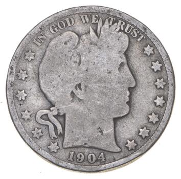 Better 1904-O - US Barber 90% Silver Half Dollar Coin Collection Set Break