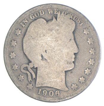 Better 1906 - US Barber 90% Silver Half Dollar Coin Collection Set Break