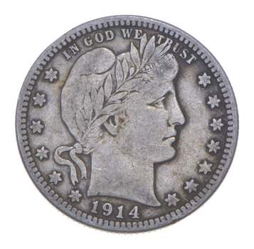 Better 1914-D - US Barber 90% Silver Quarter Coin Collection Set Break