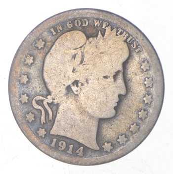 Better 1914-S - US Barber 90% Silver Quarter Coin Collection Set Break