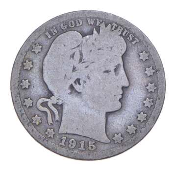 Better 1915 - US Barber 90% Silver Quarter Coin Collection Set Break