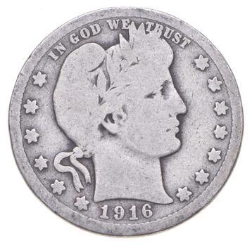 Better 1916 - US Barber 90% Silver Quarter Coin Collection Set Break