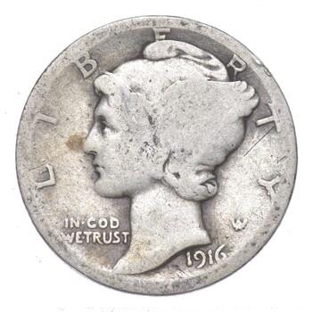 Better 1916 - US Mercury 90% Silver Dime Coin Collection Lot Set Break