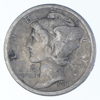 Better 1917-S - US Mercury 90% Silver Dime Coin Collection Lot Set Break