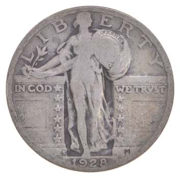 Better 1928-S - US Standing Liberty 90% Silver Quarter Coin Set Break