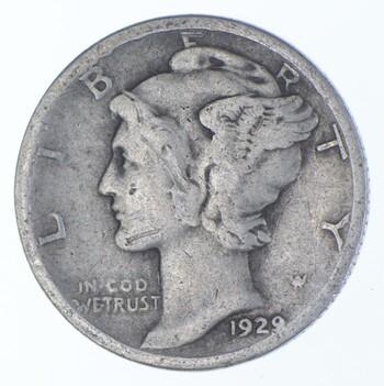 Better 1929-D - US Mercury 90% Silver Dime Coin Collection Lot Set Break