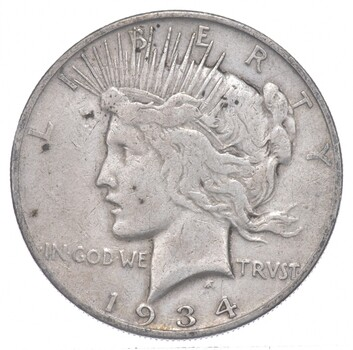 Better - 1934-S - Peace Silver Dollar - 90% US Coin