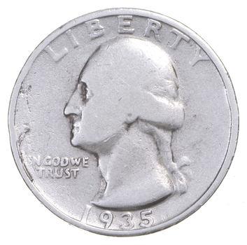 Better 1935 - US Washington 90% Silver Quarter Coin Set Break