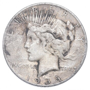 Better - 1935-S - Peace Silver Dollar - 90% US Coin