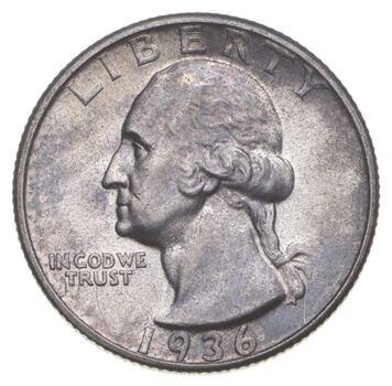 Better 1936-D - US Washington 90% Silver Quarter Coin Set Break
