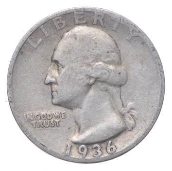 Better 1936-S - US Washington 90% Silver Quarter Coin Set Break