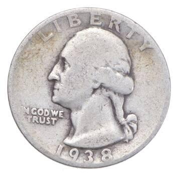 Better 1938-S - US Washington 90% Silver Quarter Coin Set Break
