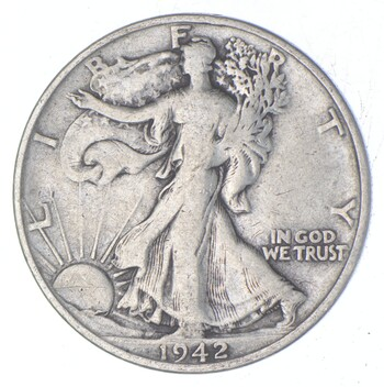 Better 1942-S - US Walking Liberty 90% Silver Half Dollar Coin Set Break