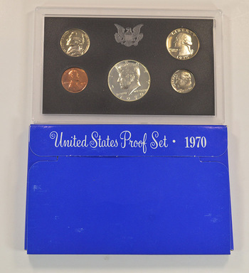 BETTER - 1970-S U.S. Proof Set with 40% Silver Kennedy Half Dollar - Key Date of the Blue Box Sets