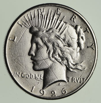 BETTER Date - 1926 Peace Silver Dollar - Nice Retail Value - 90% Silver US