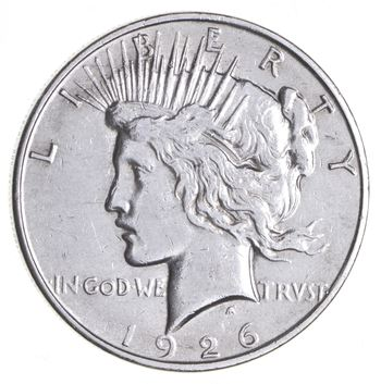 BETTER Date - 1926-D Peace Silver Dollar - Nice Retail Value - 90% Silver US