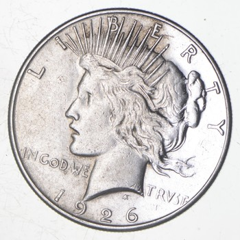 BETTER Date - 1926-S Peace Silver Dollar - Nice Retail Value - 90% Silver US