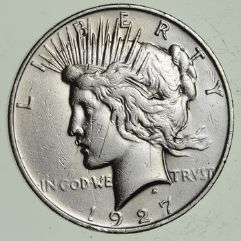 BETTER Date - 1927-D Peace Silver Dollar - Nice Retail Value - 90% Silver US
