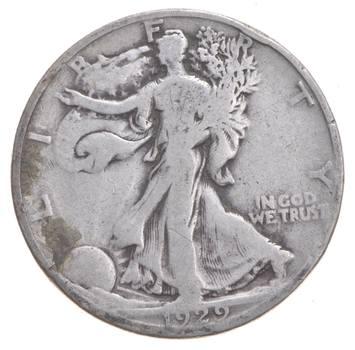 Better Date 1929-D Walking Liberty 90% Silver US Half Dollar