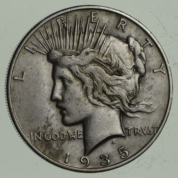 BETTER Date - 1935-S Peace Silver Dollar - Nice Retail Value - 90% Silver US