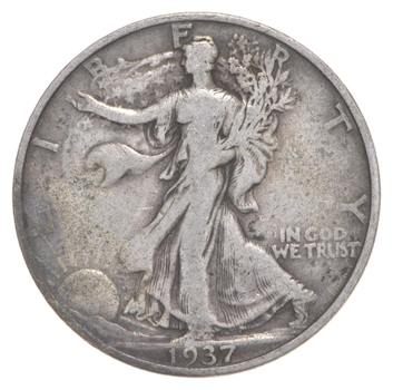 Better Date 1937-S Walking Liberty 90% Silver US Half Dollar