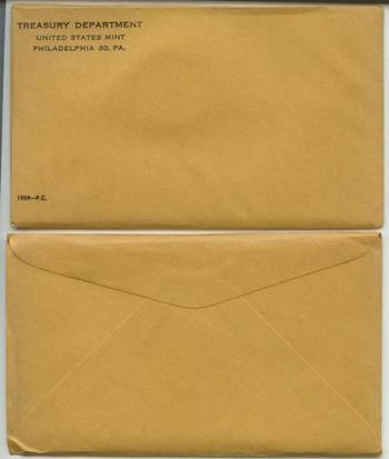 Better Date 1959 Silver Unopened (Envelope Sealed) U.S. Proof Set - May Contain DCAM Franklin Half Dollar Worth Up to $35,000
