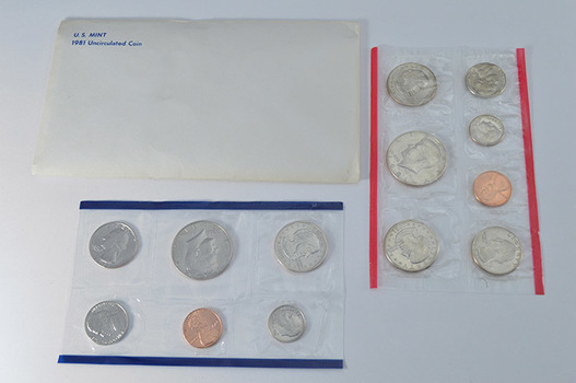 Better Date 1981 P, D and S U.S. Mint Set - Includes 3 SBA Dollars Not Issued for General Circulation