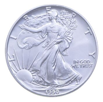 Better Date 1990 American Silver Eagle 1 Troy Oz .999 Fine Silver