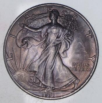 Better Date 1991 American Silver Eagle 1 Troy Oz .999 Fine Silver
