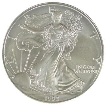 Better Date 1998 American Silver Eagle 1 Troy Oz .999 Fine Silver