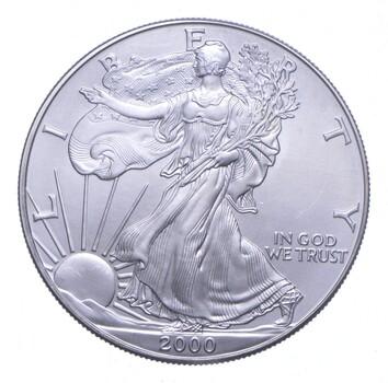 Better Date 2000 American Silver Eagle 1 Troy Oz .999 Fine Silver