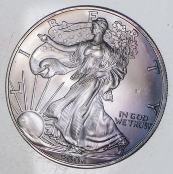 Better Date 2006 American Silver Eagle 1 Troy Oz .999 Fine Silver