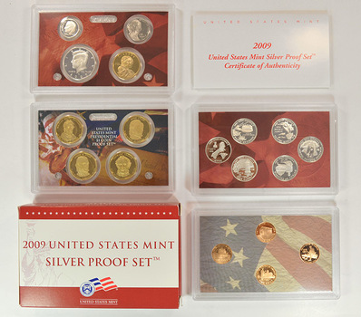 Better Date - Complete Silver 2009-S Deep Cameo Proof Set - 18 Coins Including Four Presidential Dollars
