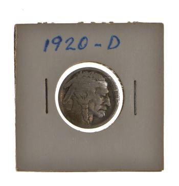 BETTER DATE - Roaring 20's - 1920-D Buffalo Nickel - Look it up!