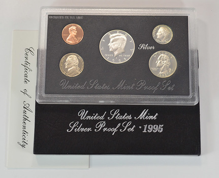 Better Date - Silver 1995-S Deep Cameo U.S. Proof Set - 5 Coin Set - Includes 3 90% SILVER