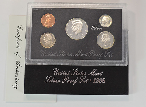 Better Date - Silver 1996-S Deep Cameo U.S. Proof Set - 5 Coin Set - Includes 3 90% SILVER