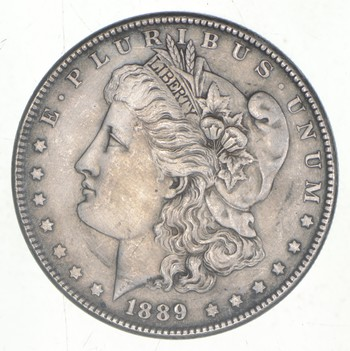 Better Grade 1889 Morgan United States Silver Dollar 90% Pure Silver