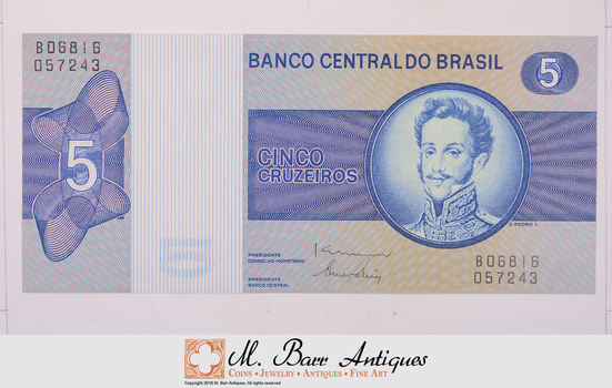Brazil - South American Paper Currency - Nice Note!