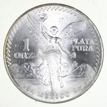 Brilliant Uncirculated - 1984 Mexico Libertad Onza - 1 Troy Ounce - .999 Silver