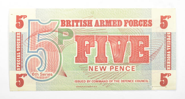 British Armed Forces5 New Pence Special Voucher - 6th Series - Issued By Command Of The Defence Council