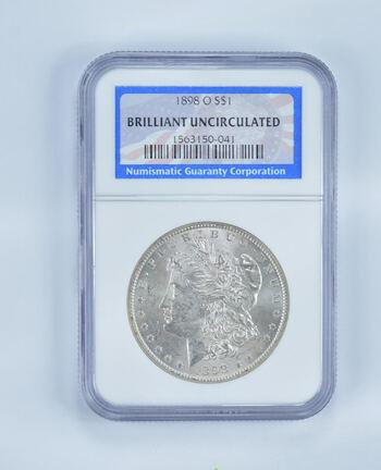 BU 1898-O Morgan Silver Dollar - Slabbed NGC
