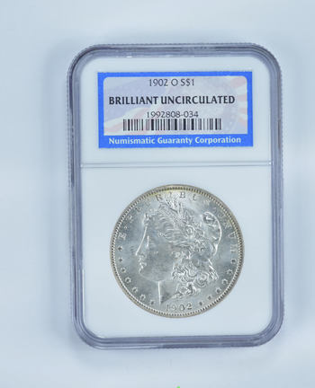 BU 1902-O Morgan Silver Dollar - Slabbed NGC