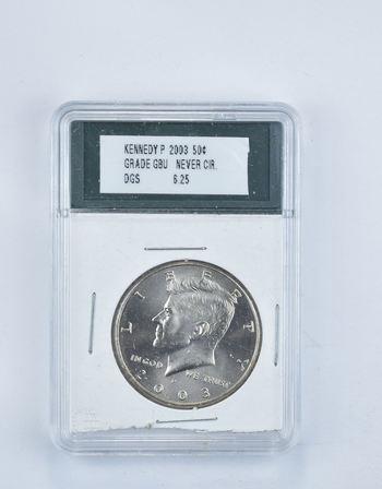 BU 2003-P Kennedy Half Dollar - Graded DGS