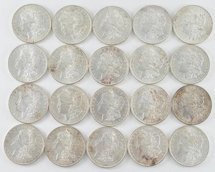 BU ROLL - 1897 Morgan Silver Dollars - Uncirculated