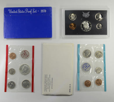 Bulk Deal: 1970 US Proof & Mint Sets - Coin Collection Bundle - 2 Sets - 1 Price with original mint packaging