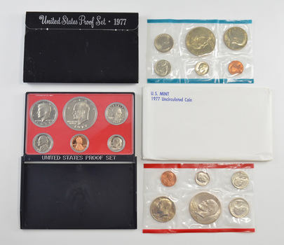 Bulk Deal: 1977 US Proof & Mint Sets - Coin Collection Bundle - 2 Sets - 1 Price with original mint packaging