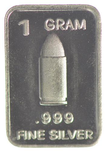 Bullet - Military Series - 1 Gram .999 Fine Bar