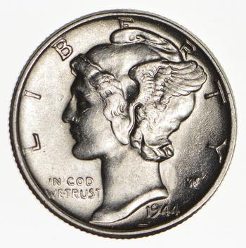 Ch AU/Unc 1944 Mercury Liberty Dime - 90% Silver - High Grade